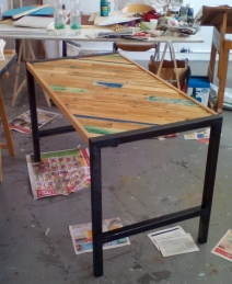Work Table (Wood, Metal, Epoxy)