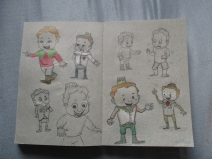 concept sketches for a children's book